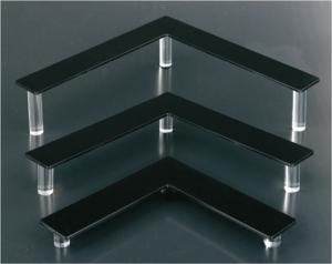 Black plexiglass jewellery display