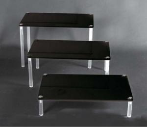 Set of 3 plexiglass tables - thickness 8mm