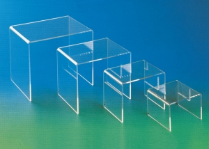 Set of four plexiglass display tables - thickness 5mm (also available separately)