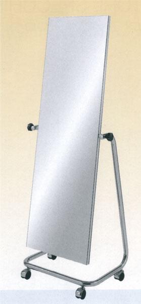 Floor standing mirror with casters