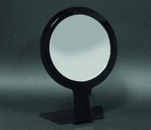 Round black bench mirror