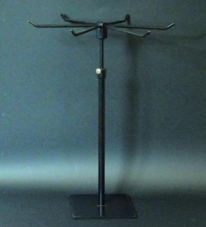 Countertop adjustable revolving rack black matt