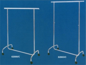 Chrome-plated rolling garment rack with collapsible round tubing