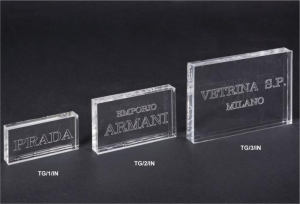 Laser engraved plexiglass plaque