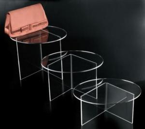 Tavolino ovale in plex trasparente