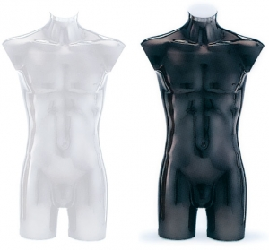 Plastic countertop male torso form