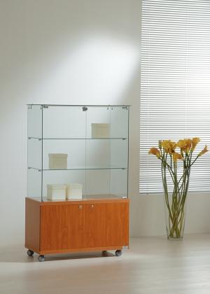 Vetrina in cristallo h 130 cm
