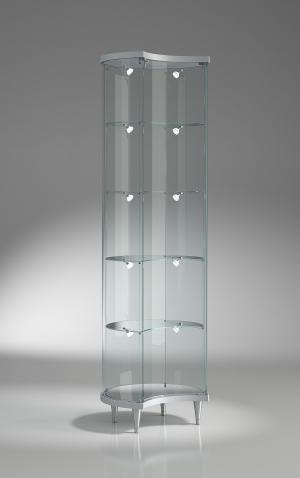 Vetrina in cristallo h 190 cm
