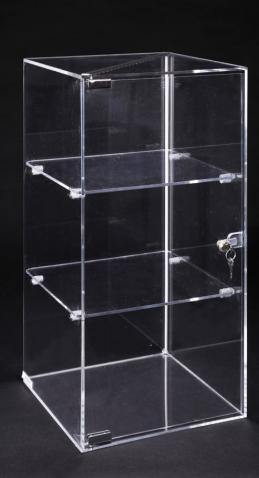Lockable clear plexiglass showcase