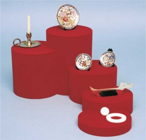 Flocked modular display case - set of 5 pieces